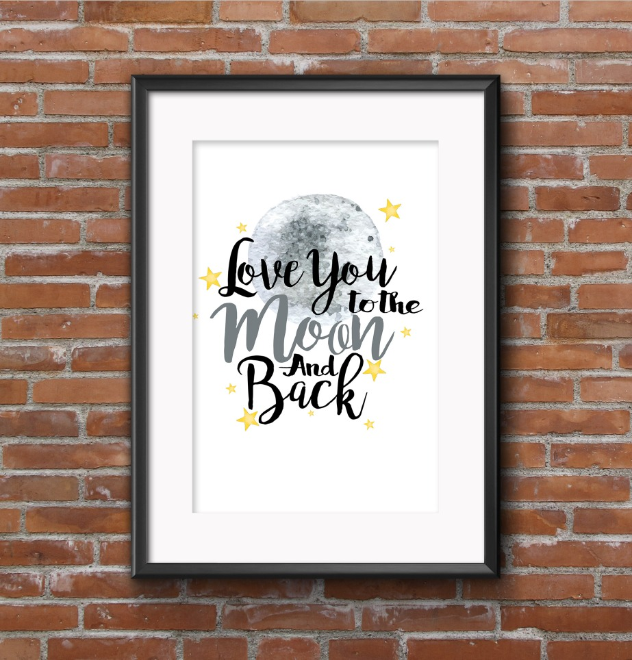 to the moon and back wall